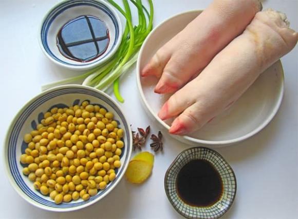chân giò, chân giò hầm đậu nành, món ngon mỗi ngày
