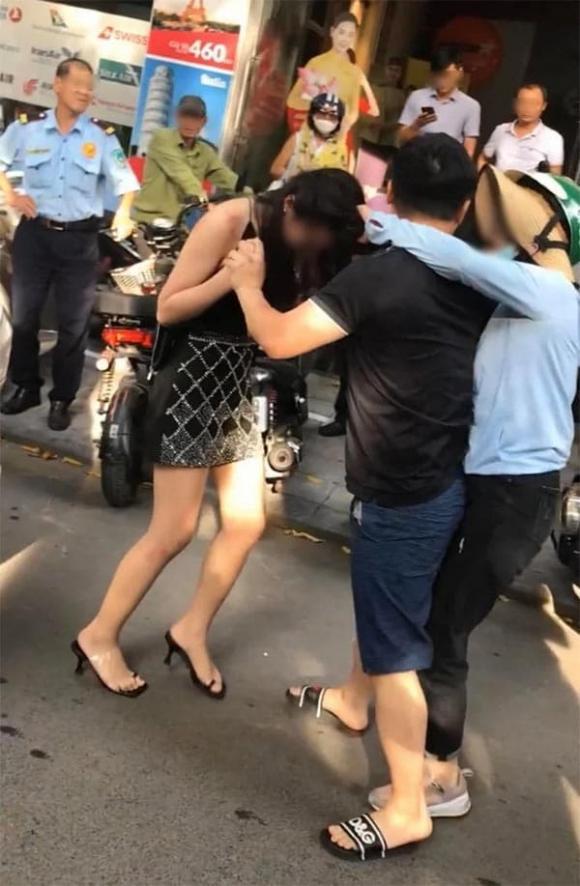 đánh ghen giữa phố Lý Nam Đế, Cô gái ngồi Lexus 570, đánh ghen