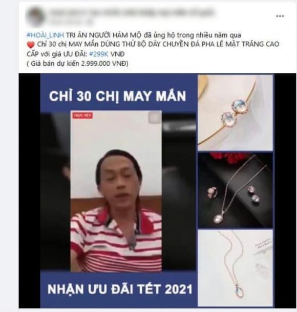 NSƯT Hoài Linh, mạo danh, bán hàng online, lừa đảo, hàng kém chất lượng, nghệ sĩ bức xúc, Trấn Thành, nước hoa A Xìn,