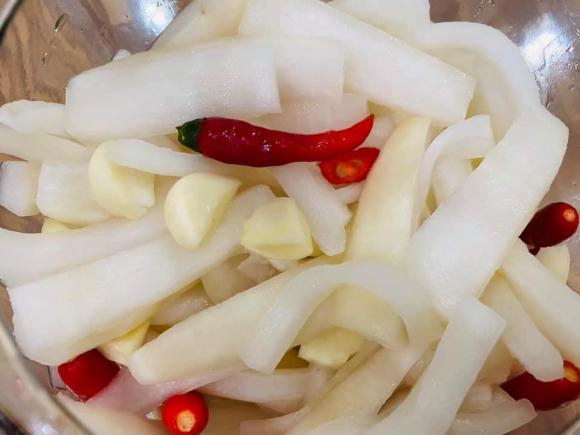 củ cải trắng, cách làm củ cải trắng ngâm chua ngọt, món ngon