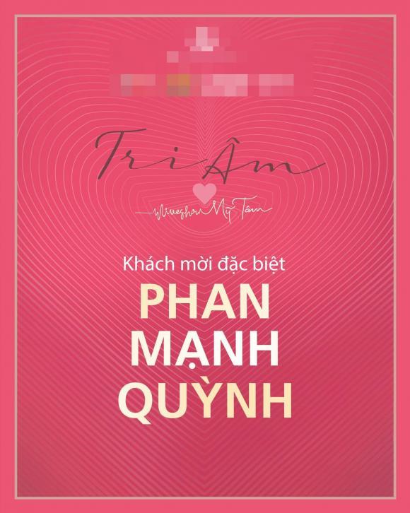 Mỹ Tâm, nữ ca sĩ, Liveshow Tri Âm, Phan Mạnh Quỳnh,