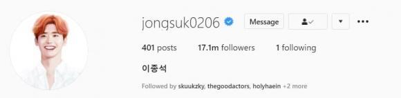 Lee Min Ho,  diễn viên Hàn Quốc được người hâm mộ theo dõi nhiều nhất trên Instagram, sao Hàn, Kim Soo Hyun, Cha Eun Woo, Lee Jong Suk, Park Seo Jun