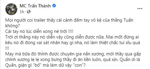 Tuấn Trần, Trấn Thành, Hari Won, Bố Già, chấn thương khi quay phim, Vũ Ngọc Đãng,