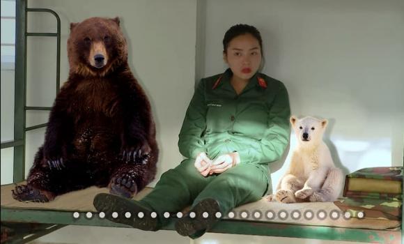 Kỳ Duyên, hoa hậu Kỳ Duyên, 7 gấu, cosplay, tạo hình gấu đen