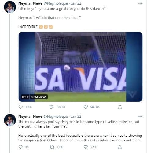 Sự thật cảm động sau màn nhảy hài hước gây bão mạng xã hội của Neymar lúc ghi bàn  1