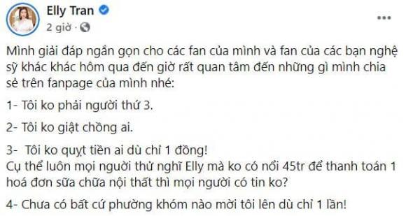 Elly Trần, Elly Trần giật chồng, sao việt