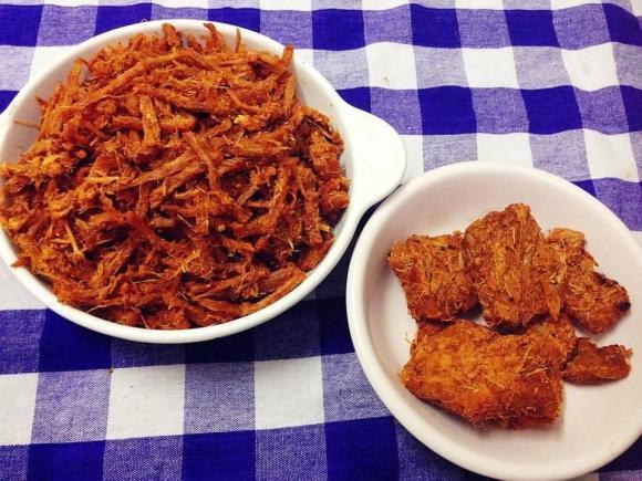 thịt heo khô, thịt heo giả bò khô, món ngon từ thịt heo