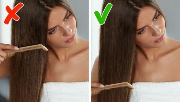 sai lầm khi chải tóc, chăm sóc tóc, làm đẹp