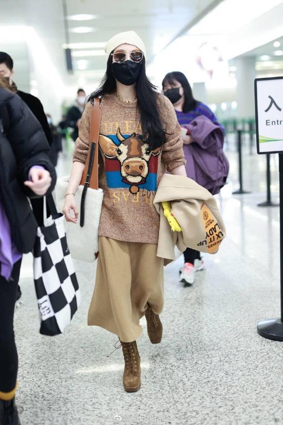 phạm băng băng, bố phạm băng băng, thời trang sân bay, sao hoa ngữ