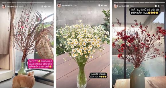 sao việt, sao việt mua hoa, hoa nhiều người mua trong dịp tết