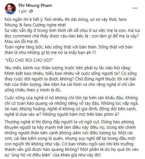 Phi Nhung, Hồ Văn Cường, sao Việt, nam ca sĩ,
