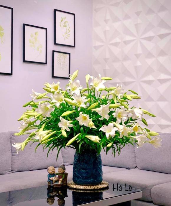 cắm hoa, cắm hoa dáng tròn, cắm hoa loa kèn