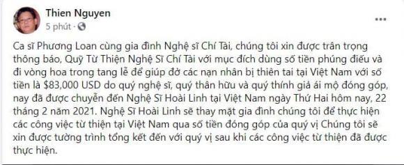 Chí Tài, cố nghệ sĩ Chí Tài, qua đời, NSƯT Hoài Linh