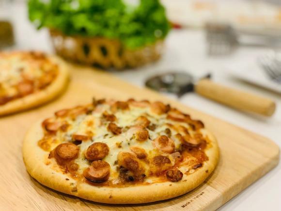 Hoa hậu Ngọc Hân, Ngọc Hân, sao Việt, công thức làm pizza