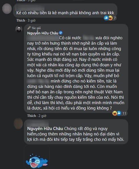 NSƯT Hữu Châu, chỉ trích, sao Việt,