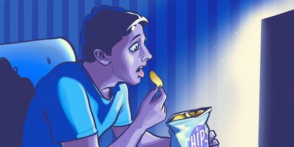 xem phim, phim rung rợn, giảm cân, phim kinh dị