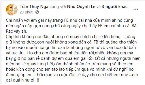 Thúy Nga, Quỳnh Như, Hoàng Anh, Ly hôn,