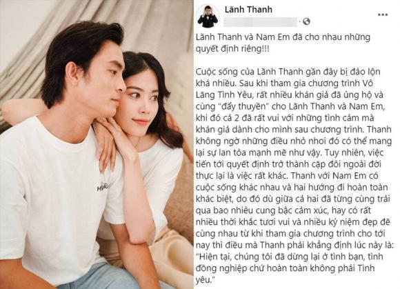 Lãnh Thanh, Nam Em, sao Việt, tình cảm sao Việt
