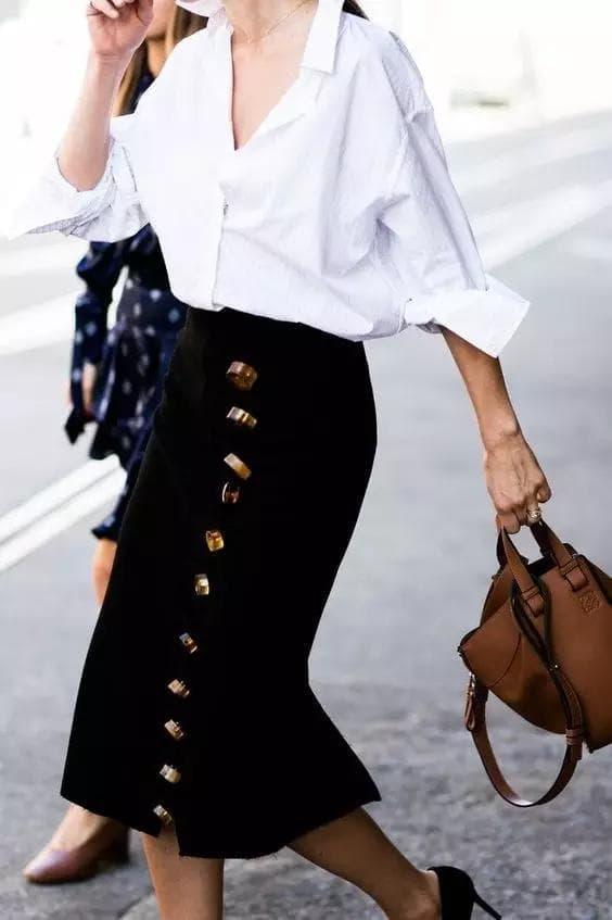 Dạy bạn cách phối đồ với sơ mi trắng, sơ mi trắng, thời trang đẹp