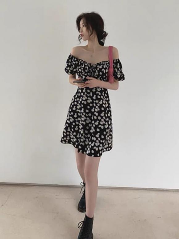 váy, váy hoa cúc, thời trang xuân