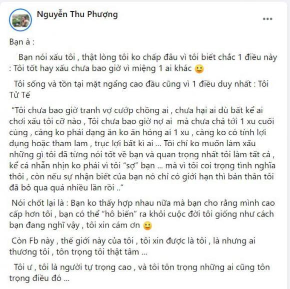 Thu Phượng, vợ cũ Thành Trung, sao Việt