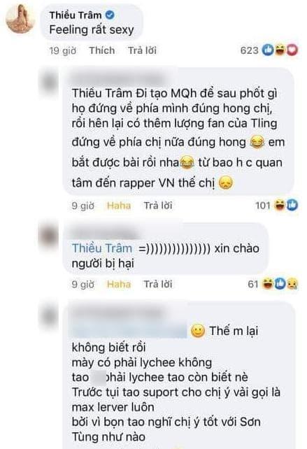 Tlinh, Thiều Bảo Trâm, sao Việt
