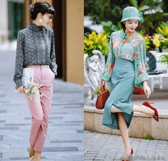 áo sơ mi, quần tây, chân váy, thời trang mùa xuân