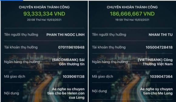 Linh Lan, Vân Quang Long, Nam ca sĩ, Qua đời, Lâm Vũ, Tiền quyên góp,