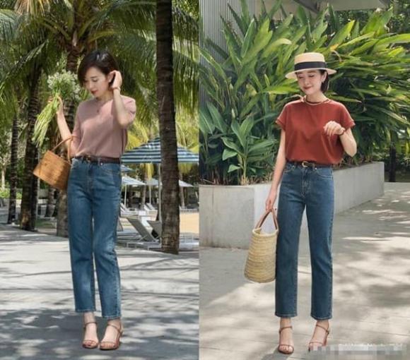 quần jeans, quần thuốc lá, quần ống suông, thời trang mùa hè 2021