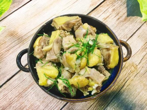 thịt gà rang lá chanh, cách làm thịt gà rang lá chanh, món ngon
