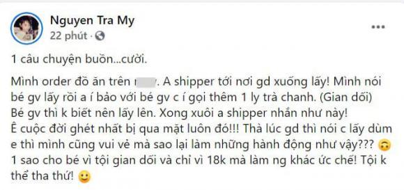 Trà My idol, shipper, đặt đồ ăn qua mạng
