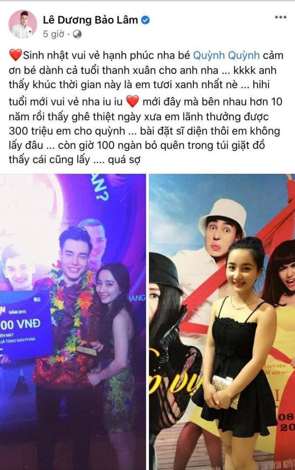 Lê Dương Bảo Lâm, Bà xã Quỳnh Anh, Vợ chồng, Sao Việt,