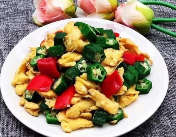 ẩm thực gia đình, món ngon mỗi ngày, trứng xào đậu bắp