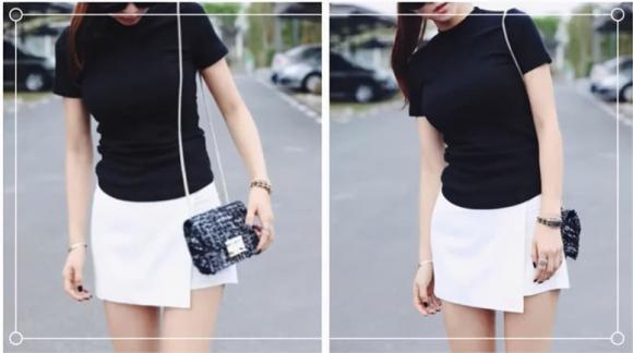 áo phông, áo phông đen, cách phối đồ, thời trang