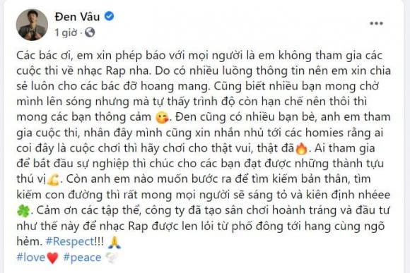 Đen Vâu, Rapper Đen Vâu, sao Việt
