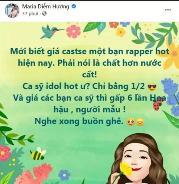 Hoa hậu Diễm Hương, cát xê sao Việt, rapper