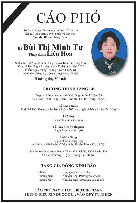 Việt Hương, mẹ chồng Việt Hương, sao việt