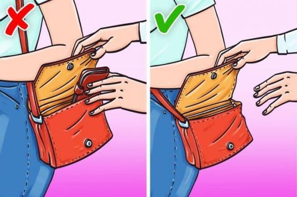 móc túi, cách tránh bị móc túi, kiến thức