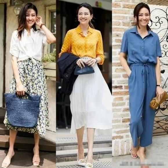trang phục hè, thời trang phụ nữ 40, thời trang phụ nữ 50