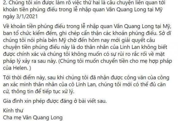 Linh Lan, Vân Quang Long, Ái Vân, Sao Việt