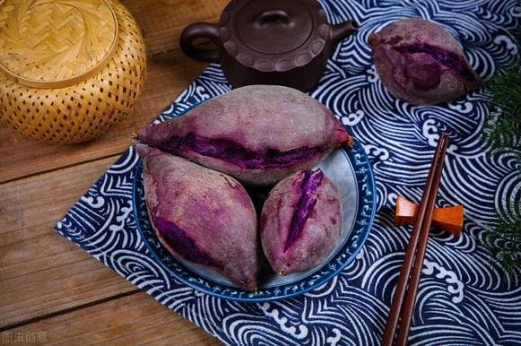mẹo hấp khoai lang tím, món ngon, cách nấu món ngon