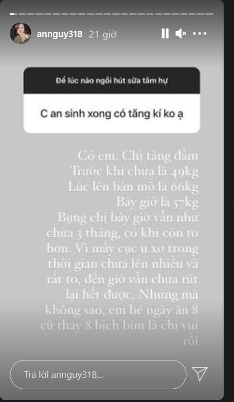 An Nguy, An Nguy sinh con, sao Việt
