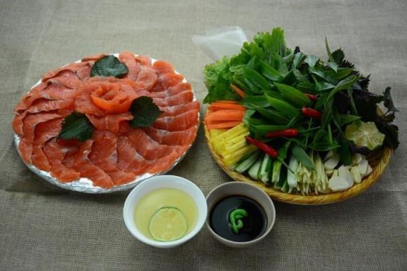 cá hồi, món ngon từ cá hồi,  cá hồi kho tộ, cá hồi sốt tiêu chanh