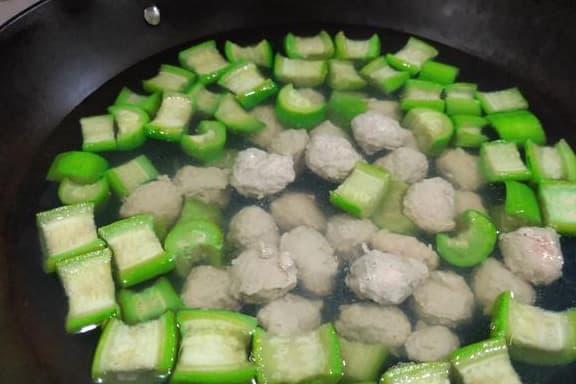 món ngon, cách nấu ăn, mướp hương nấu thịt viên