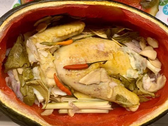 các món ngon từ gà, nấu gà cùng dưa hấu, món ngon