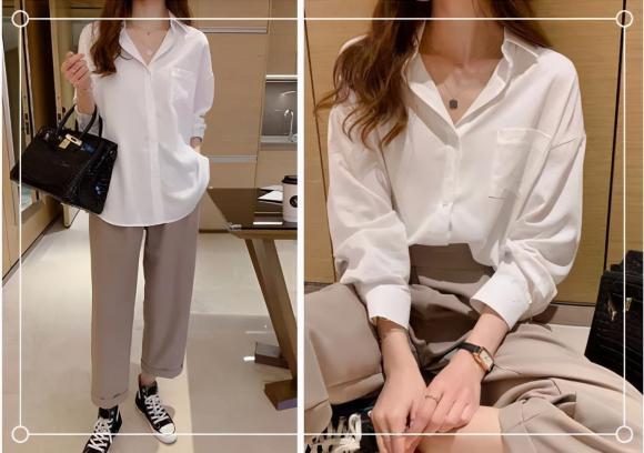 Áo sơ mi trắng, phối đồ, mặc đẹp