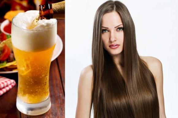 tóc đẹp, mặt nạ tóc, gội đầu bằng bia, bia, mặt nạ bia cho tóc