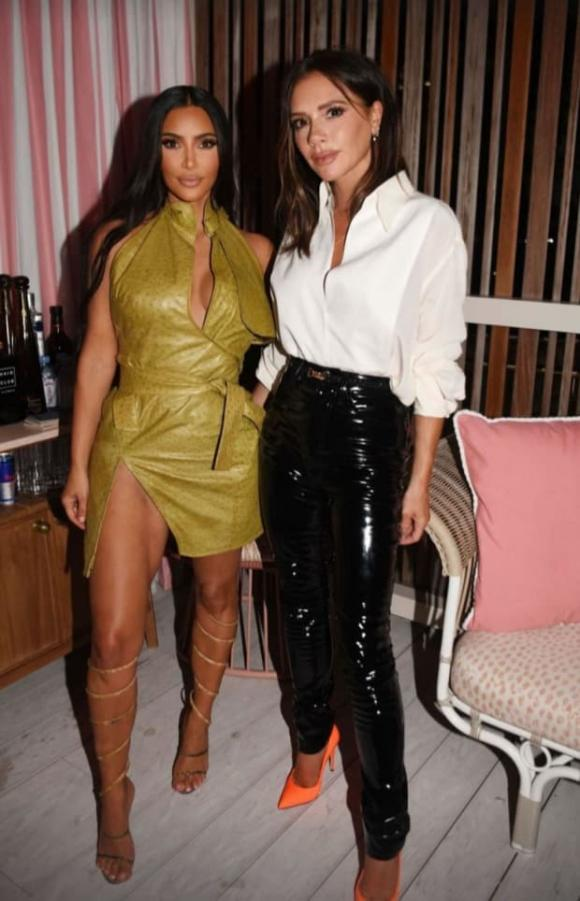 Victoria Beckham, Kim Kardashian, David Beckham tán tỉnh Kim Kardashian