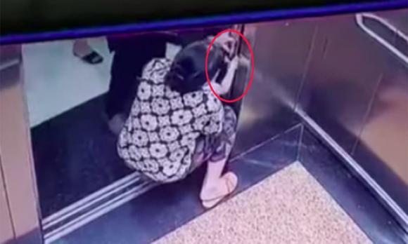 Quảng Đông, Trung Quốc, bé gái, thang máy