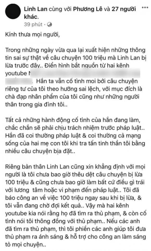 Vợ hai Vân Quang Long phản pháo khi bị tố là đồng phạm trong vụ lừa đảo 100 triệu chi phí tang lễ của chồng